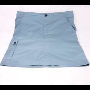 PATAGONIA Blue Grey Nylon Skort-Size 8